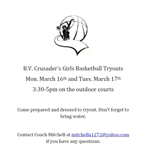 Girls Basketball Tryouts 2015