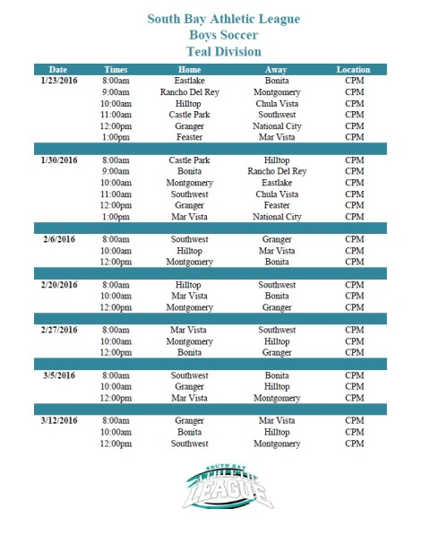 Final Boys Soccer Schedule Teal Image